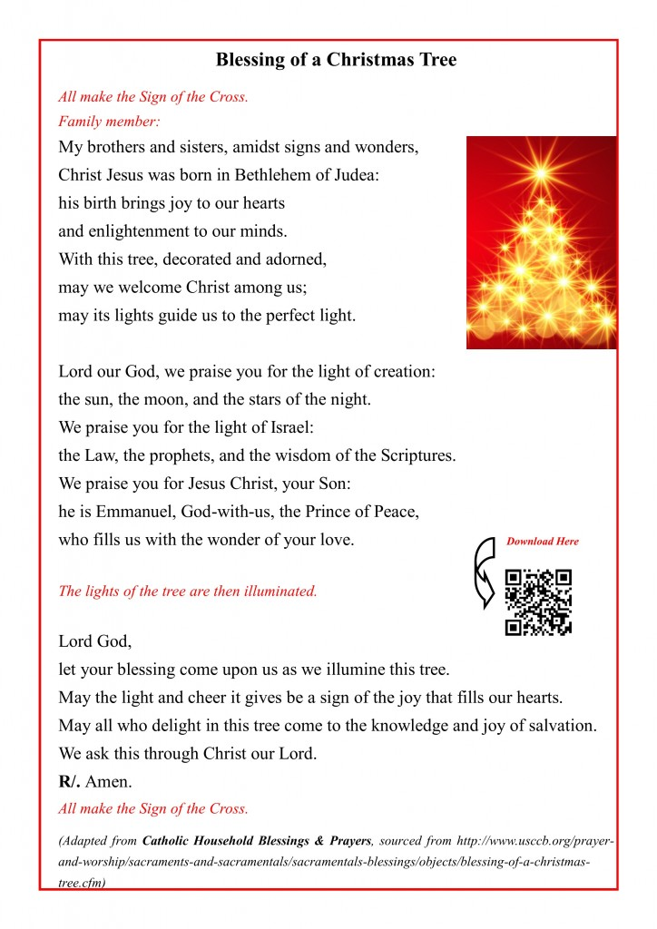 Blessing of a Christmas Tree