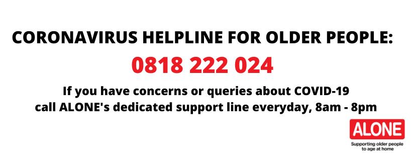 CORONAVIRUS HELPLINE FOR OLDER PEOPLE_ 0818 222 024