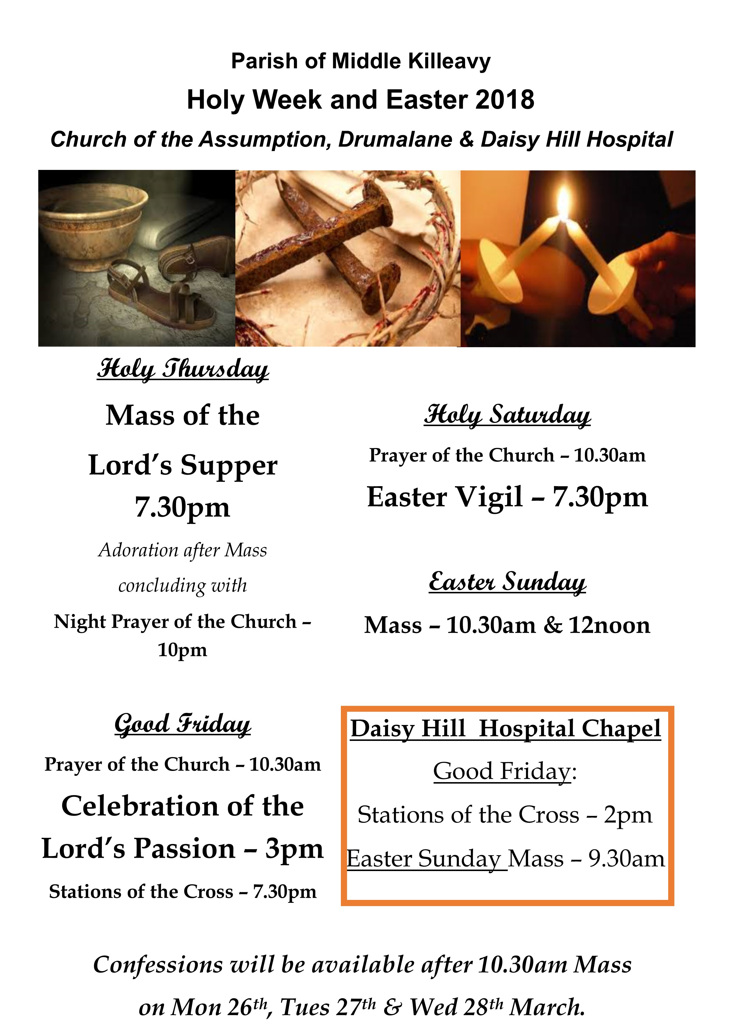Holy Week & Easter Schedule Online V2