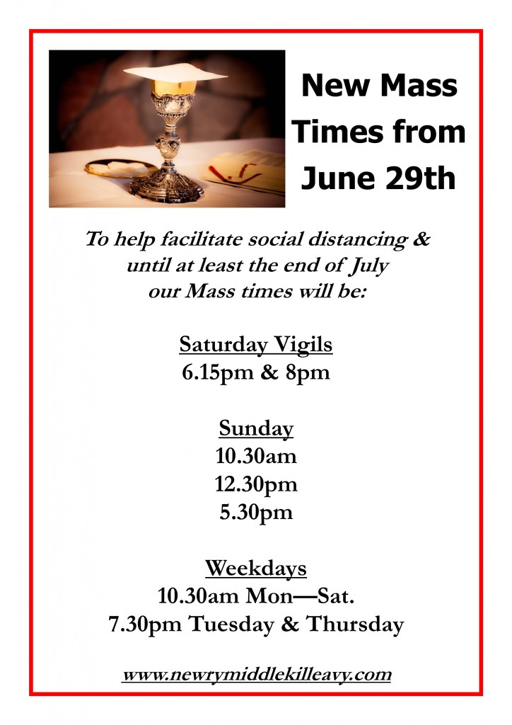 Mass Times_From June 29th 2020