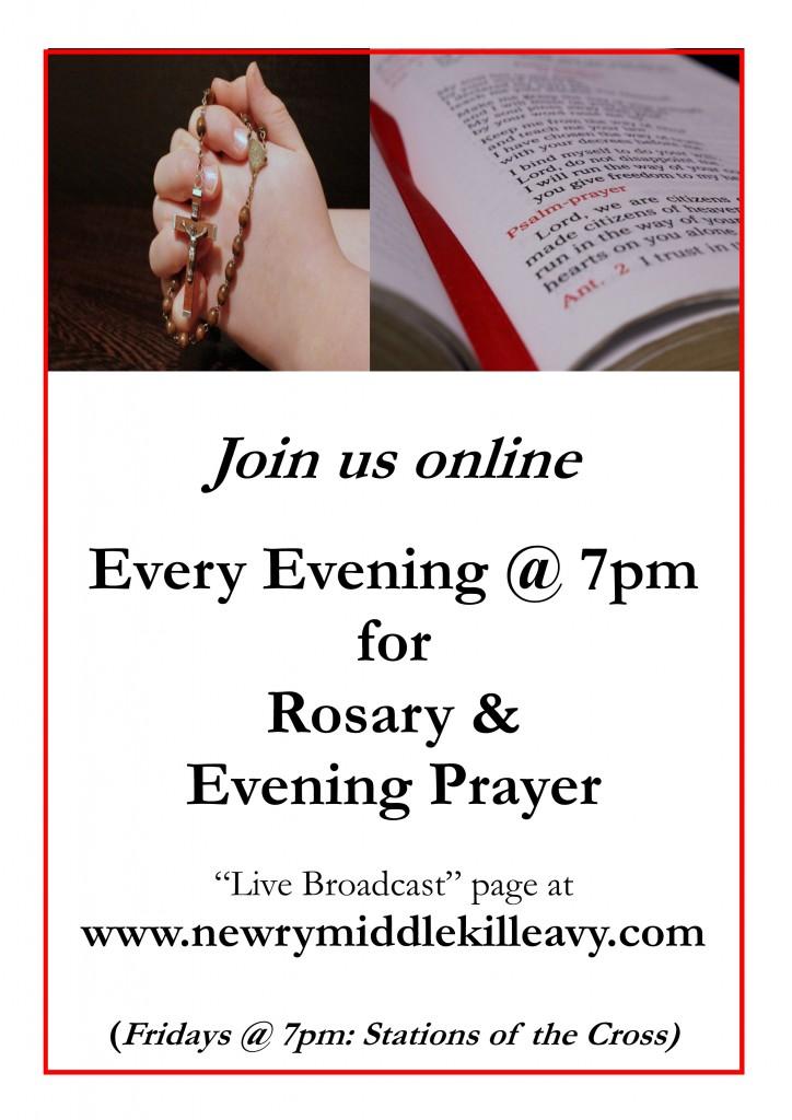 Rosary & Evening Prayer Poster