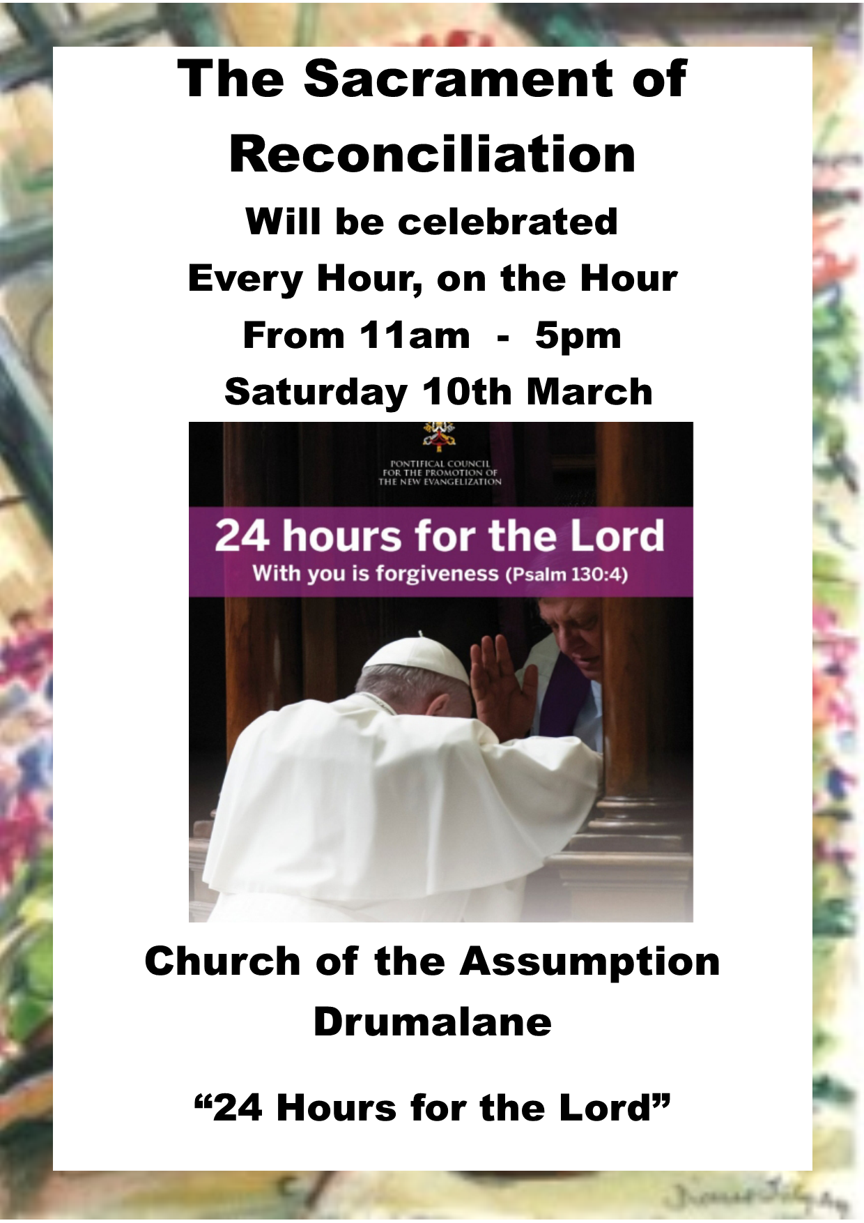 Sacrament of Reconciliation 24H