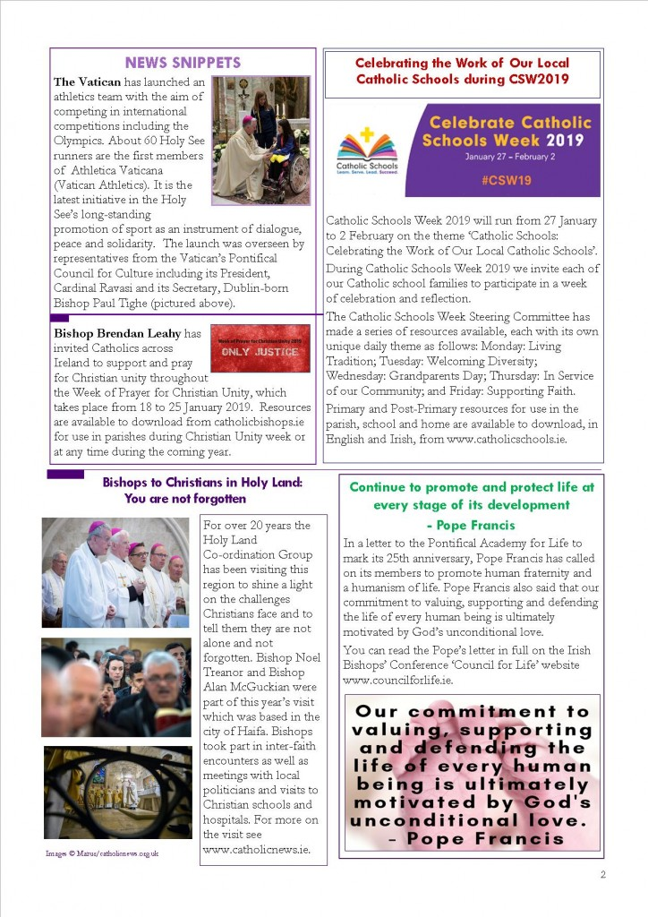 Sharing the Good News January 2019_ back page