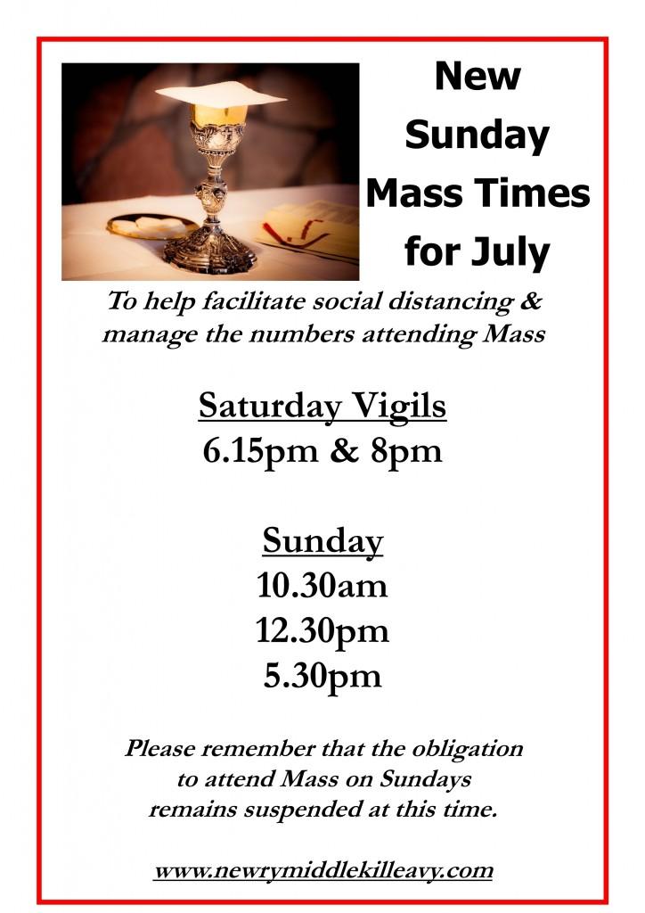 Sunday Mass Times for July_July 2020