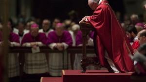 Pope Kneeling