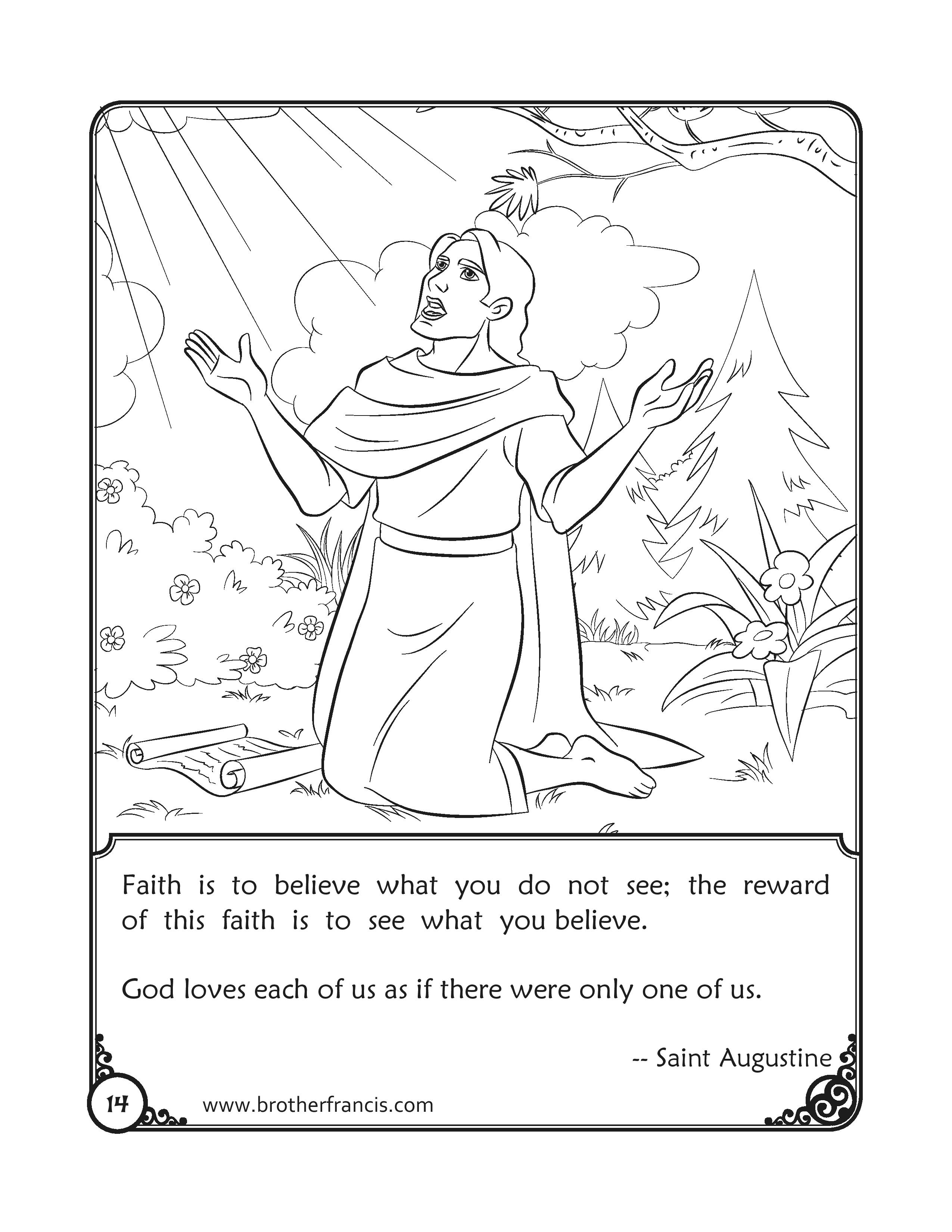 Colouring Page_saint-augustine-quotes-coloring-page-brother-francis-page-001