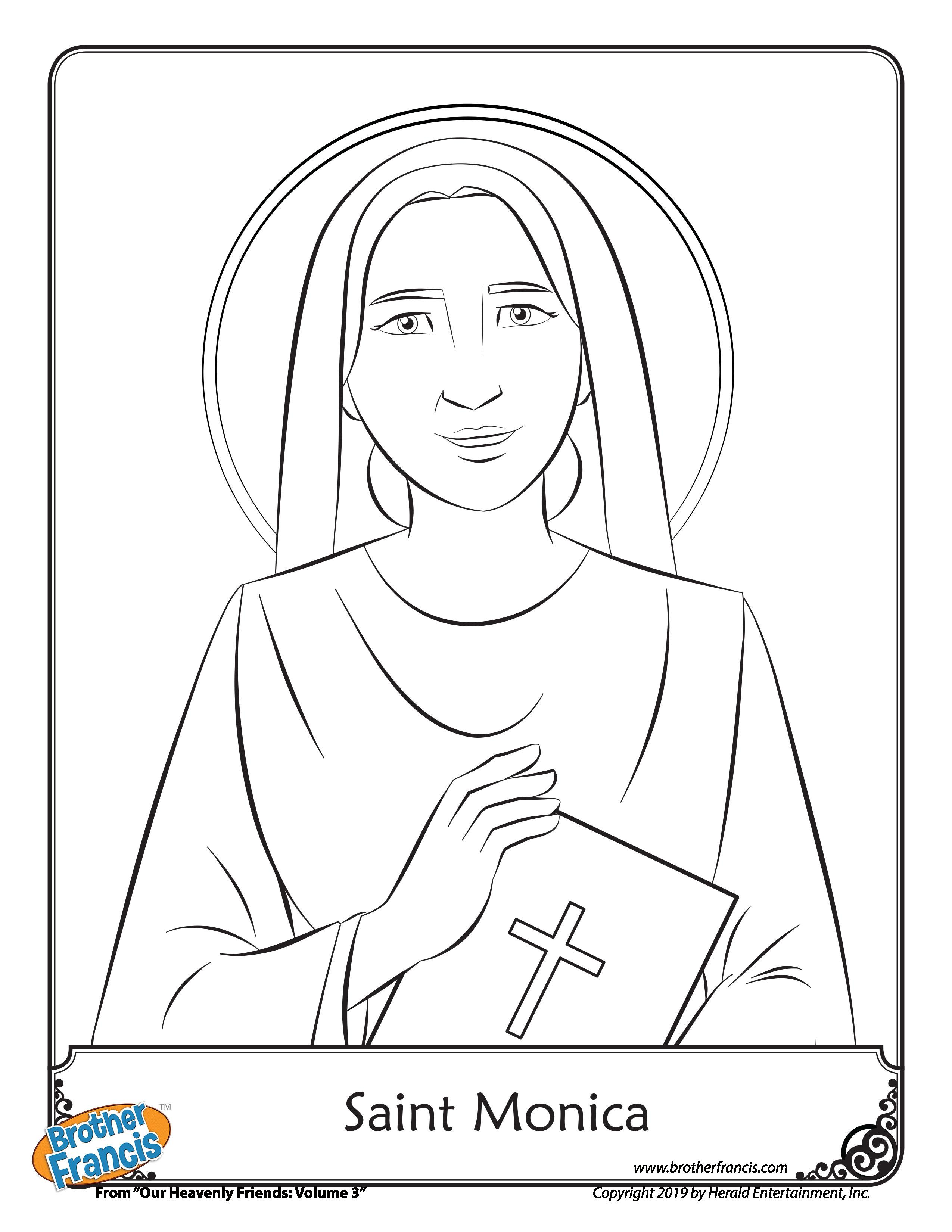 Colouring Page_saint-monica-coloring-page-brother-francis-page-001