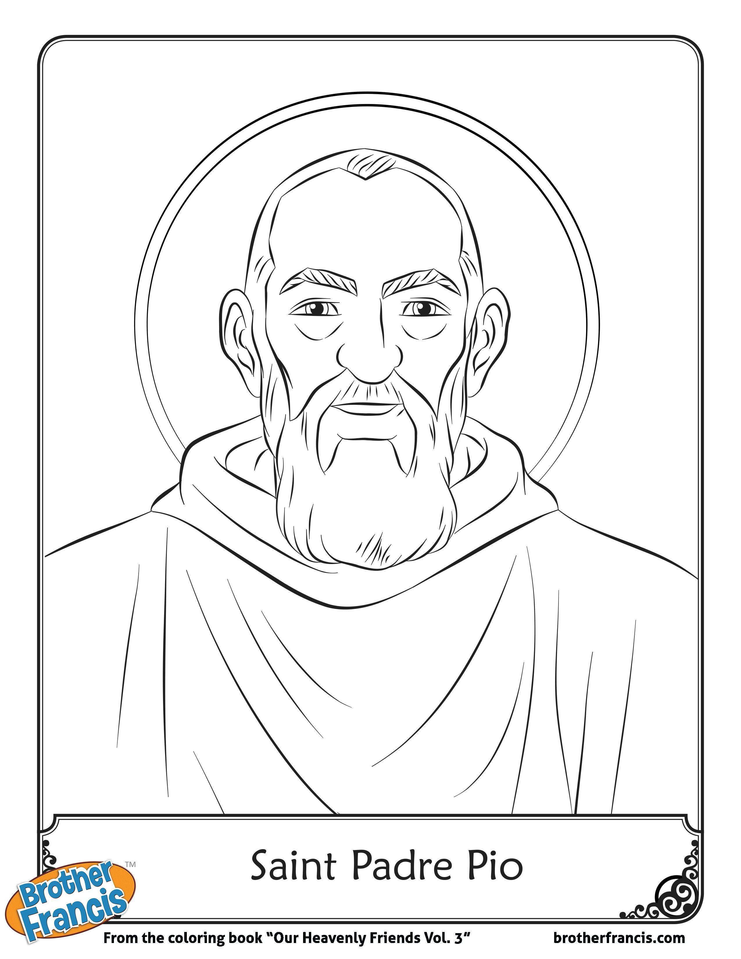 September 23_Saint-padre-pio-free-coloring-page-page-001