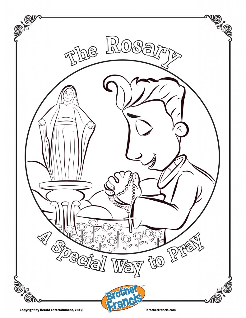 The Rosary Colouring Page-page-001